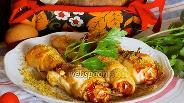 Фото рецепта Куриные рулетики с ветчиной и яйцом