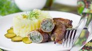 Фото рецепта «Пальчики» из свинины с салом и зеленью