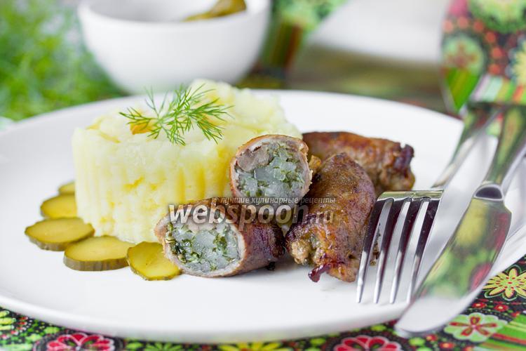 Фото «Пальчики» из свинины с салом и зеленью