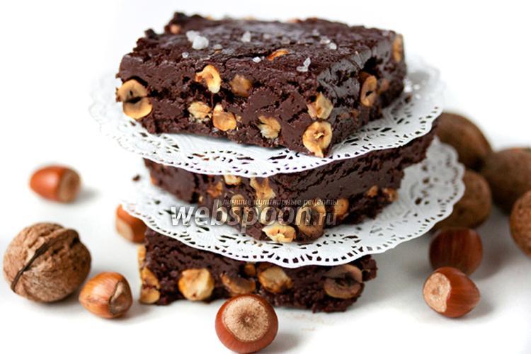 Фото Шоколадный фадж с фундуком и грецкими орехами