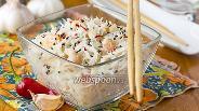 Фото рецепта Рисовая лапша с креветками по-тайски
