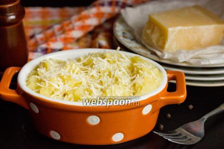 Картофельное пюре с пармезаном и мускатным орехом