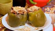 Фото рецепта Перцы фаршированные баклажанами и рикоттой