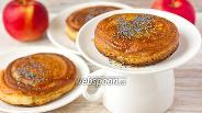 Фото рецепта Медовые оладьи с яблочной «сердцевиной»