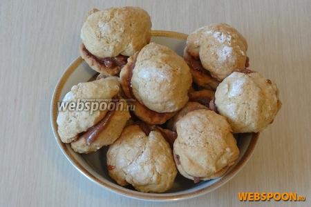 Печенья получается в количестве 10 штук. Приятного аппетита!