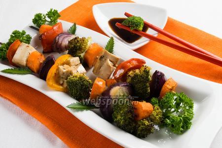 Пёстрый шашлычок из овощей с тофу