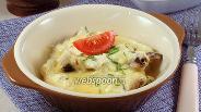 Фото рецепта Шампиньоны со сыром и сметаной