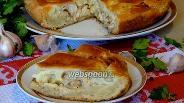 Фото рецепта Пирог с курицей и луком