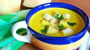 Фото рецепта Тыквенный суп-пюре со сливками и карри