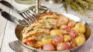 Фото рецепта Куриная грудка с виноградом в белом вине