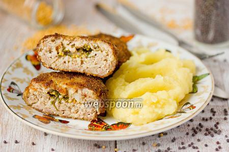 Котлеты из свинины с горчичным маслом