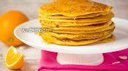 Фото рецепта Тыквенно-апельсиновые блины