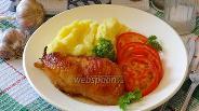 Фото рецепта Курица с чесноком и сливками