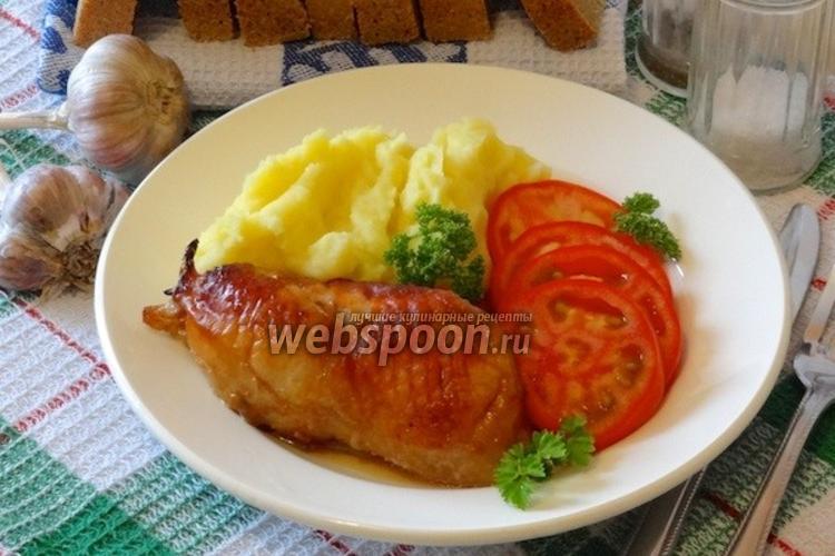 Фото Курица с чесноком и сливками