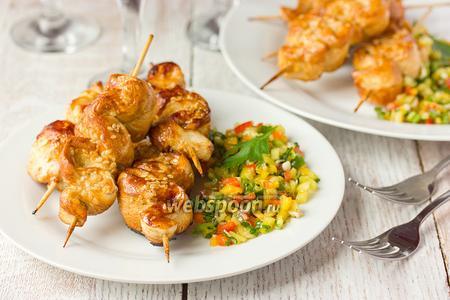 «Крученая» курица в медовом маринаде