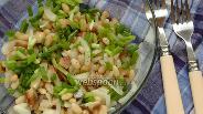 Фото рецепта Салат из фасоли с сельдью и луком