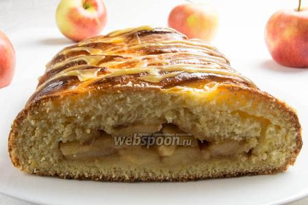 Яблочный пирог «Коса»