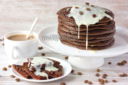 Шоколадно-кофейные блины