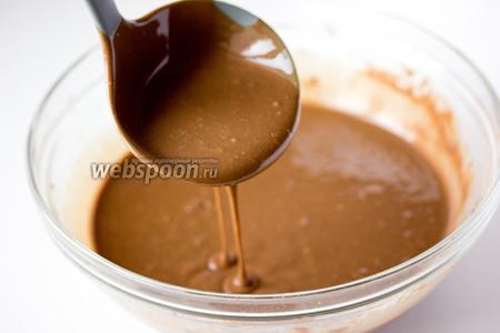 Вот такое у нас получается шоколадное тесто.