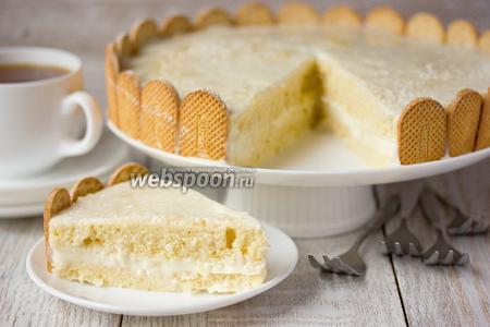 Кокосовый торт «Нежность» в микроволновке