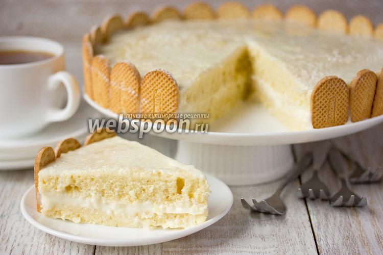 Фото Кокосовый торт «Нежность» в микроволновке