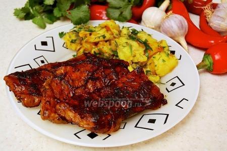 Говяжье филе в свиной сетке