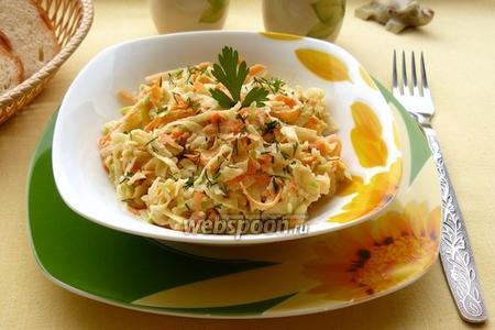 Салат из редьки, моркови и сыра