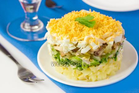 Салат с белыми грибами «Боровичок»