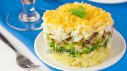 Фото рецепта Салат с белыми грибами «Боровичок»