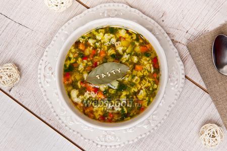 Лёгкий суп с овощами