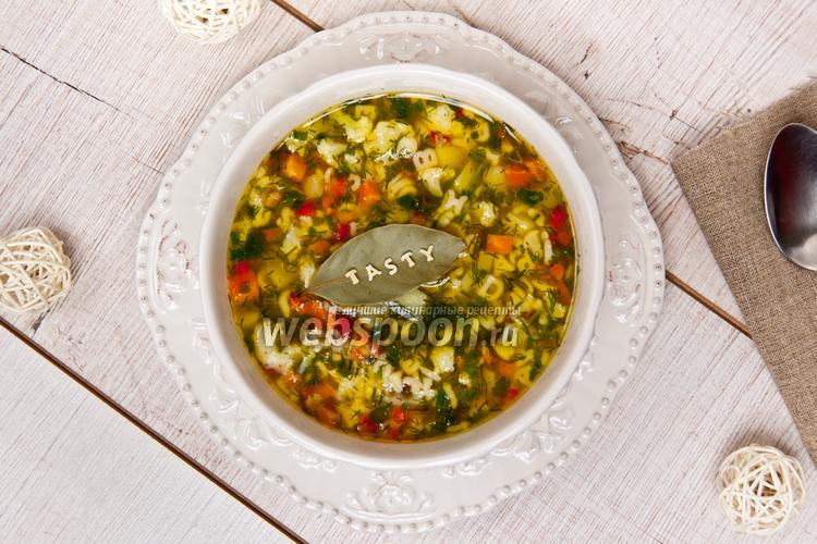 Фото Лёгкий суп с овощами