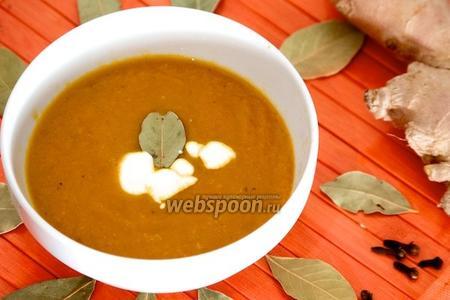 Морковный суп с имбирём и корицей