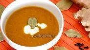 Фото рецепта Морковный суп с имбирём и корицей