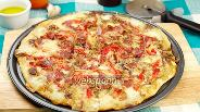 Фото рецепта Пицца с моцареллой, прошутто и луком