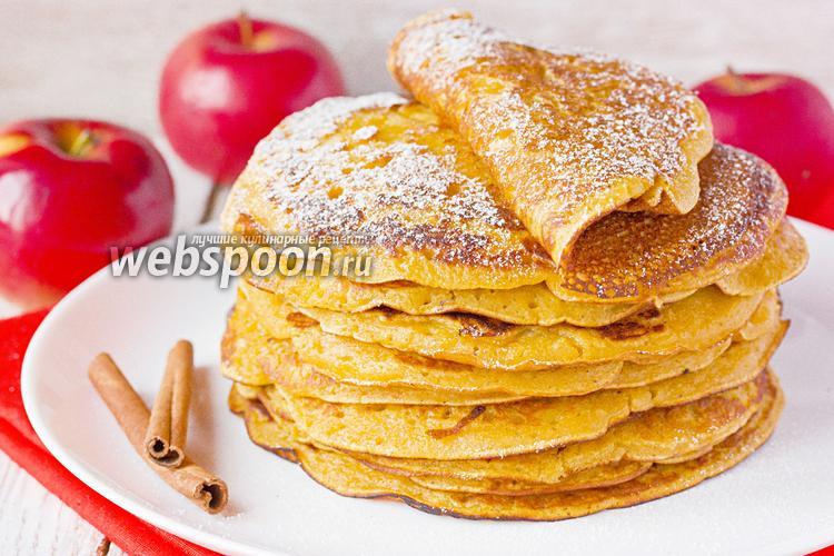 Фото Тыквенно-яблочные блины с корицей