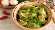 Фото рецепта Салат из зелёных помидоров
