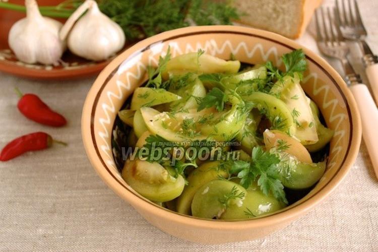 Фото Салат из зелёных помидоров