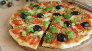 Фото рецепта Пицца с брокколи, моцареллой и пармезаном