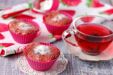 Фото рецепта Свекольные кексы в микроволновке
