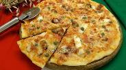 Фото рецепта Пицца с коктейлем из морепродуктов