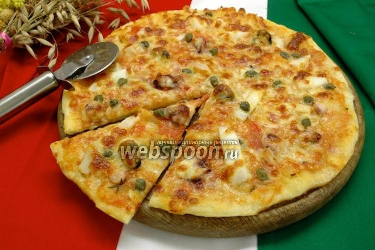 Фото Пицца с коктейлем из морепродуктов