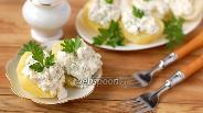 Фото рецепта Картофель с творожной начинкой
