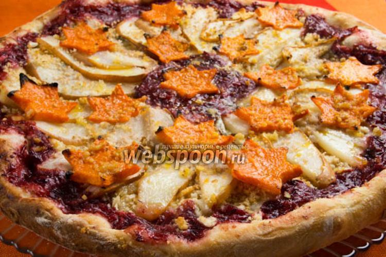 Фото Пицца с грушей и сыром Горгонзолла
