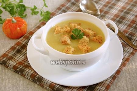 Суп-пюре из тыквы, картофеля и овсяных хлопьев