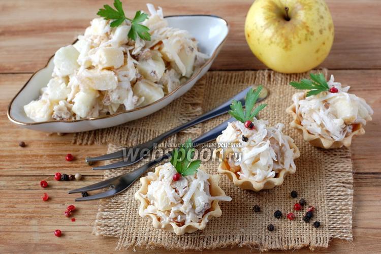Фото Салат из сельдерея и яблок