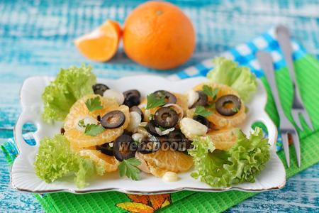 Луково-мандариновый салат