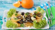 Фото рецепта Луково-мандариновый салат