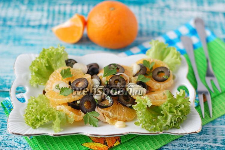 Фото Луково-мандариновый салат