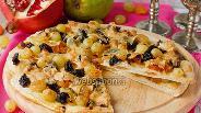 Фото рецепта Сладкая пицца с пармезаном