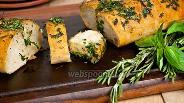 Фото рецепта Чиабатта с травами и чесноком